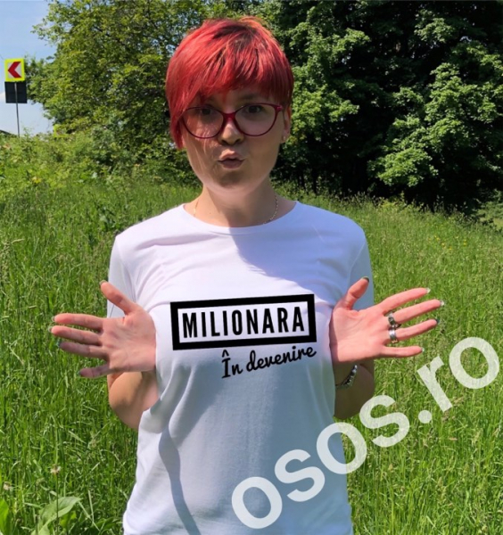 Tricou damă - Milionară în devenire [0]