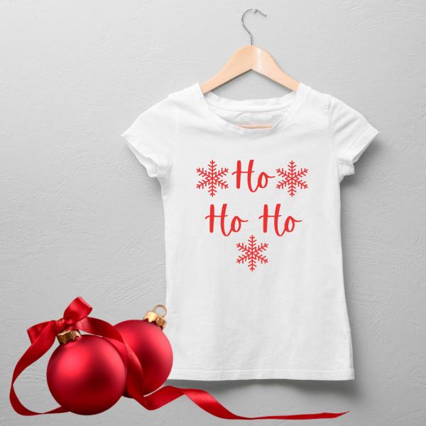 Tricou damă personalizat -  Ho Ho Ho [0]