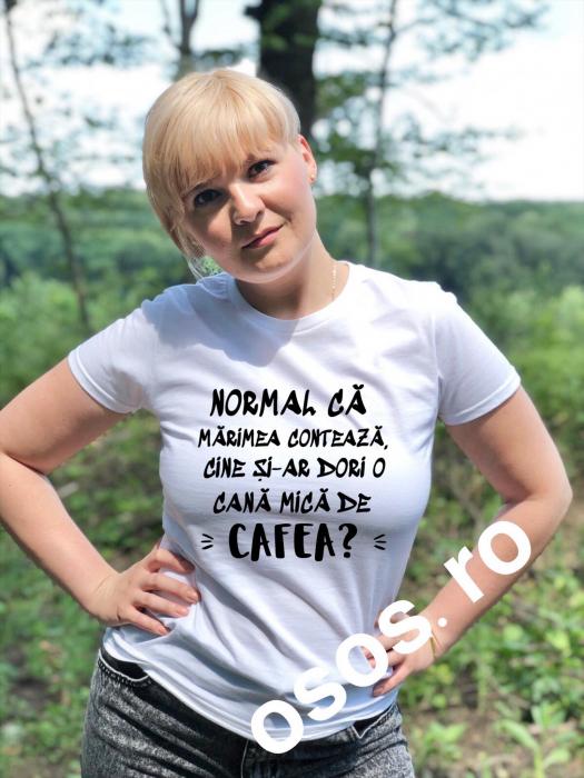 Tricou damă personalizat - Normal ca marimea conteaza [0]