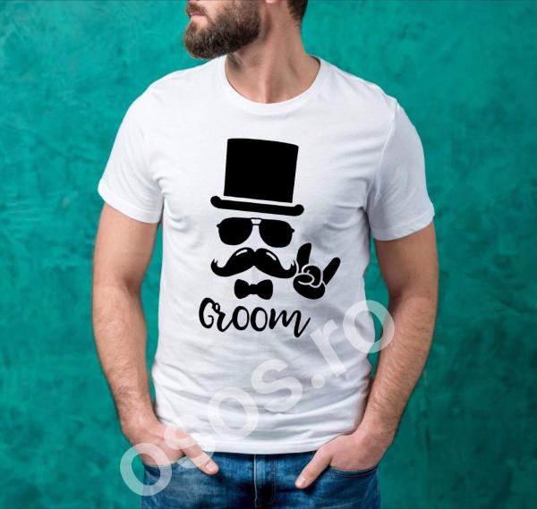 Tricou personalizat bărbătesc Groom 0