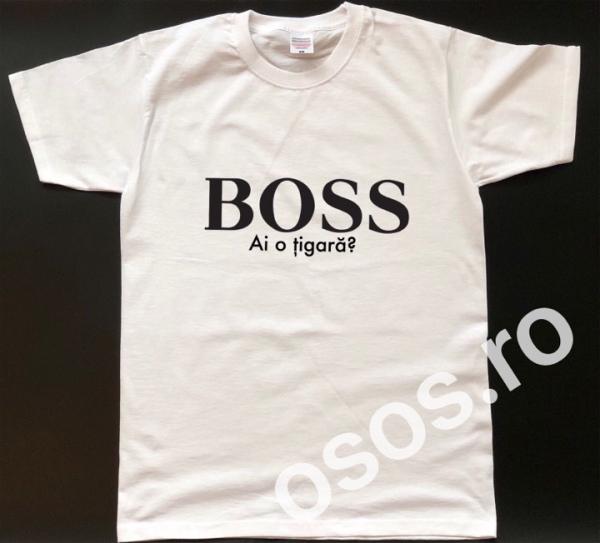 Tricou personalizat bărbătesc - Boss, ai o ţigară? [0]