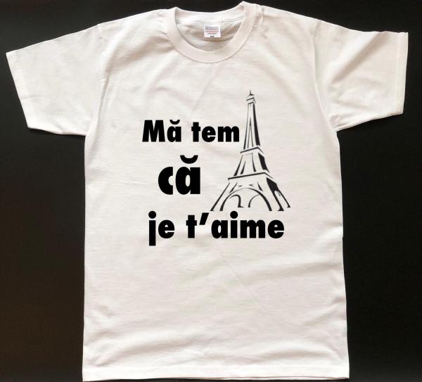 Tricou personalizat bărbătesc - Mă tem că je t'aime 0