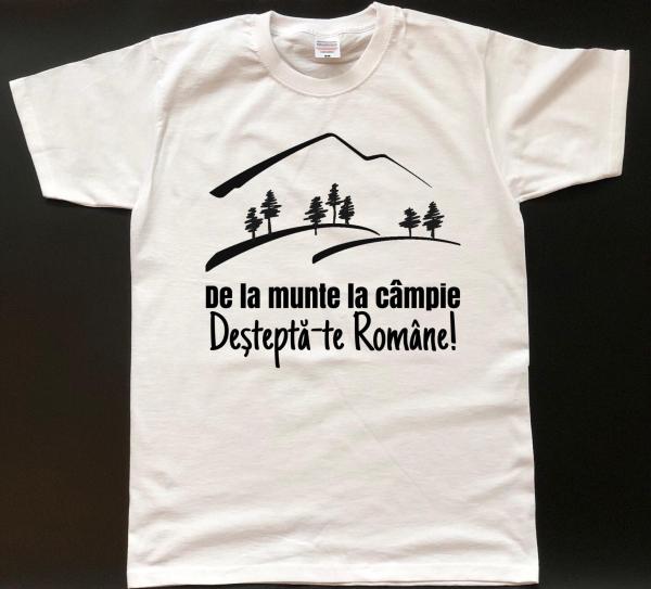 Tricou personalizat bărbătesc - Deşteaptă-te Române! 0