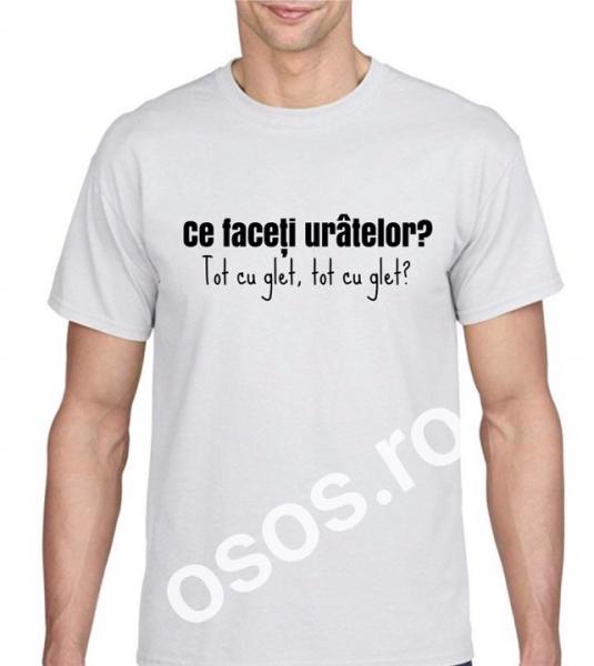 Tricou personalizat bărbătesc - Ce faceţi urâtelor? Tot cu glet? [0]