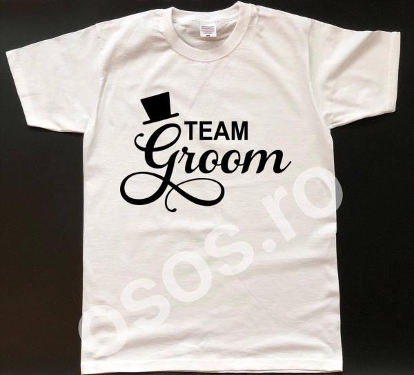 Tricou personalizat bărbătesc Team Groom 0