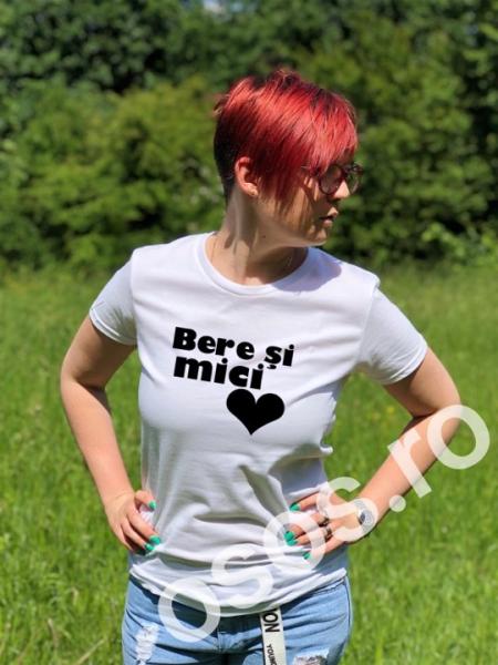 Tricou personalizat damă - Bere şi mici 0