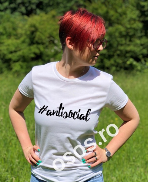 Tricou personalizat damă - Antisocial [0]