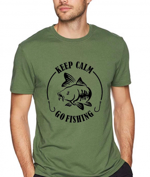 Tricou pescar - Keep calm go fishing 0