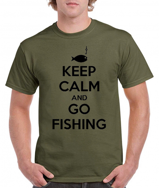 Tricou pescar - Keep calm and go fishing 0