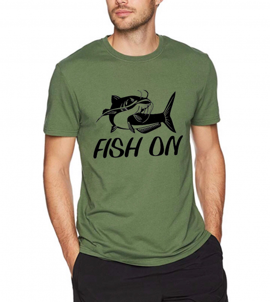 Tricou pescar - Fish on 0