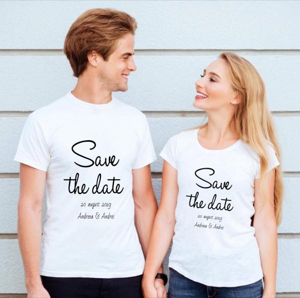 Tricouri cuplu - Save the date 0