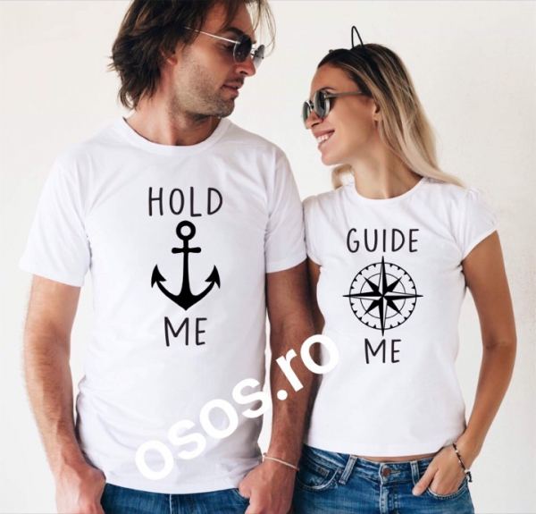 Tricouri cuplu - Hold me. Guide me 0