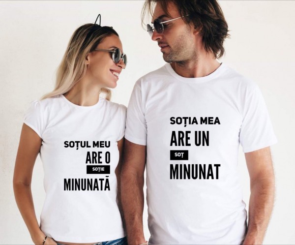 Tricouri cuplu - Soţ şi soţie 0