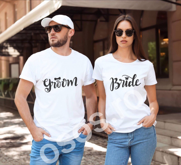 Tricouri cuplu - Groom. Bride 0