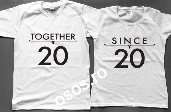 Tricouri cuplu - Together Since [0]