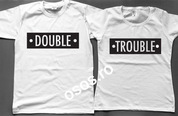 Tricouri cuplu - Double Trouble 0