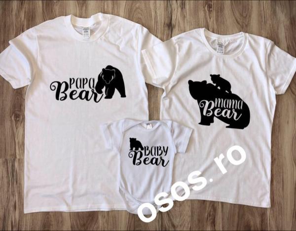 Tricouri Familie - Mama bear. Papa bear. Baby bear [0]