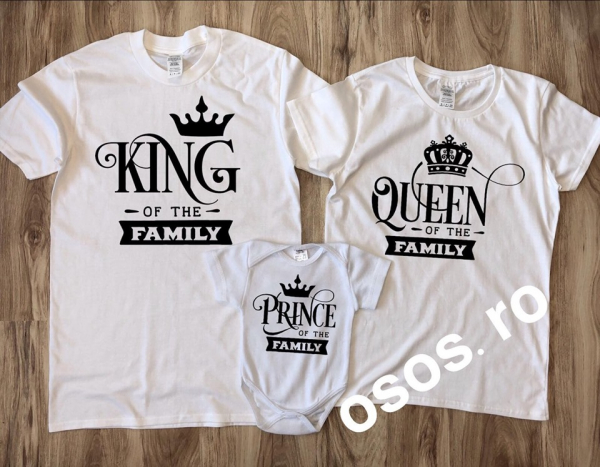 Tricouri Familie - King Queen Prince 0