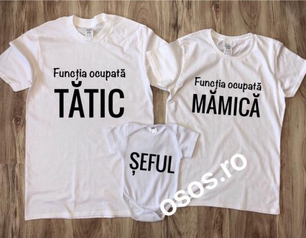Tricouri Familie - Tatic Mamica Sef 0