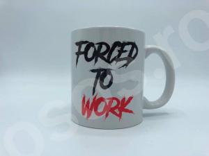 Cană personalizată - cu două feţe - Born to party Forced to work1