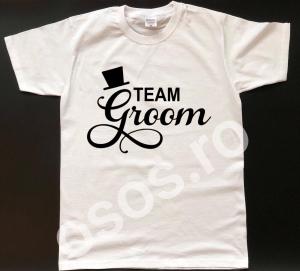 Tricou personalizat bărbătesc Team Groom1