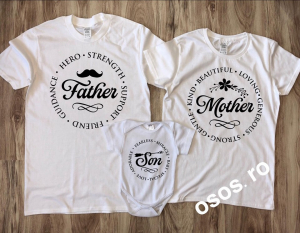 Tricouri Familie - Mother Father Son [0]