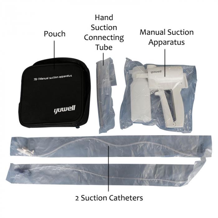 Aspirator Secretii RespiroX 7B-1, manual, vas colector 200 ml, putere aspirare > 300 mmHg 2