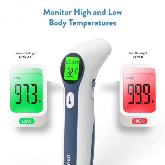 Termometru Non Contact, infrarosu, pt. adulti si copii - Dual Mode Jumper 1
