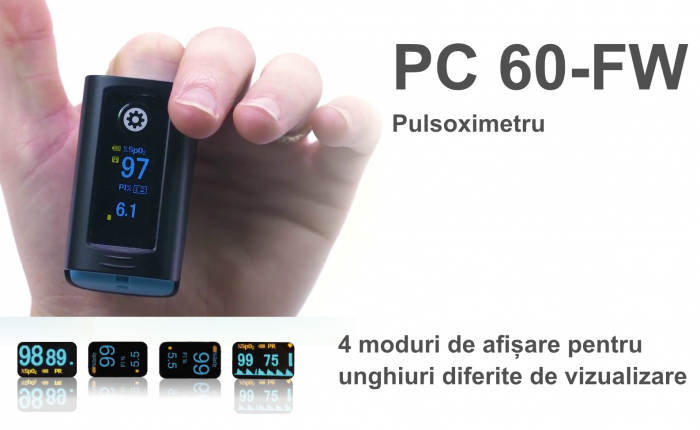Pulsoximetru PC‐60FW cu bluetooth si display OLED 6