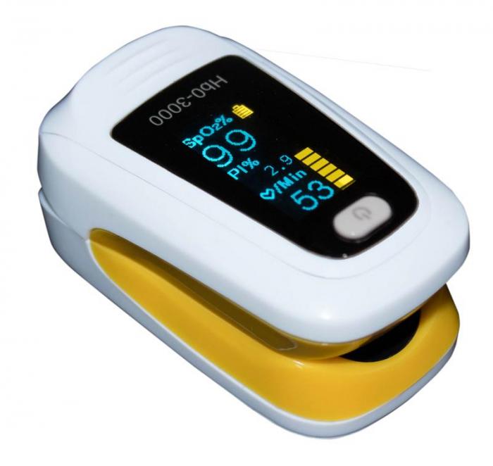 Pulsoximetru HbO-3000 (OLED display, SpO2, PR, PI & Plethysmogram, Pulse Bar) 3
