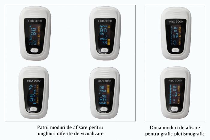 Pulsoximetru HbO-3000 (OLED display, SpO2, PR, PI & Plethysmogram, Pulse Bar) 5