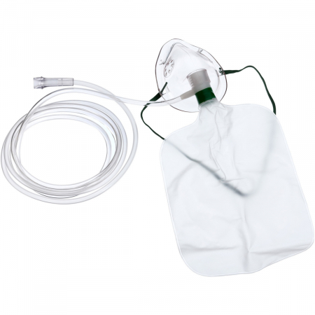 Masca oxigen, Adult, 2.1 m, Concentratie inalta, Rezervor0
