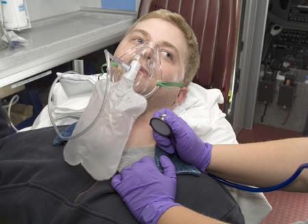 Masca oxigen, Adult, 2.1 m, Concentratie inalta, Rezervor1