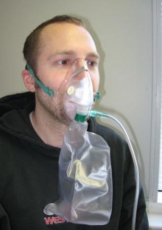 Masca oxigen, Adult, 2.1 m, Concentratie inalta, Rezervor, o supapa [2]