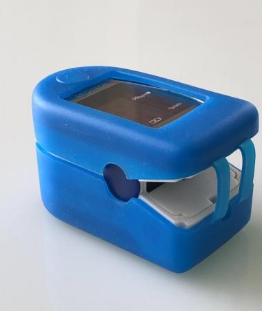 Husa protectie Puls Oximetru, siliconica, albastra [1]