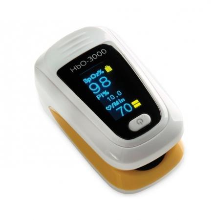 Pulsoximetru HbO-3000 (OLED display, SpO2, PR, PI & Plethysmogram, Pulse Bar)0