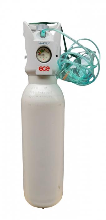 Butelie/tub oxigen medical 10 litri din aluminiu cu reductor integrat Medivital [0]