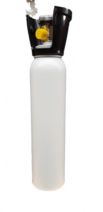 Set/kit complet oxigenoterapie 3 litri aluminiu (butelie 3L aluminiu + reductor + vas umidificator + masca) [1]