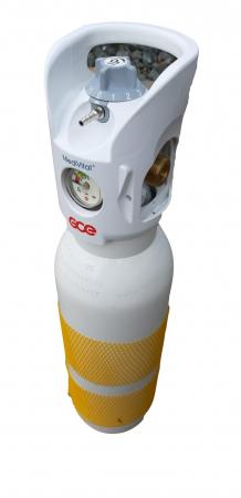 Butelie/tub oxigen medical aluminiu 3 litri cu reductor Integrat Medivital [3]