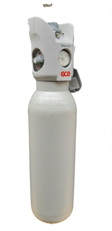 Butelie/tub oxigen medical aluminiu 3 litri cu reductor Integrat Medivital [2]