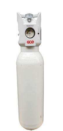 Butelie/tub oxigen medical aluminiu 3 litri cu reductor Integrat Medivital [4]