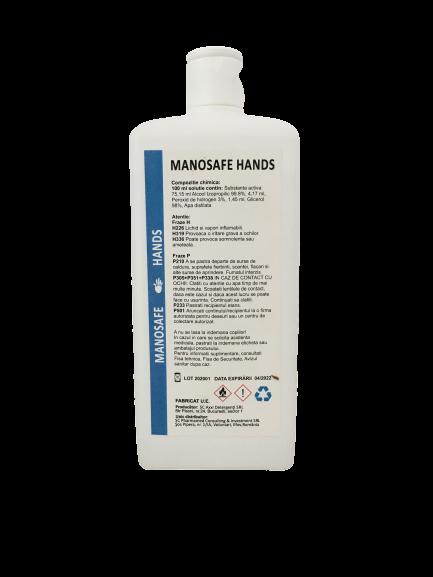 MANOSAFE HANDS - DEZINFECTANT PE BAZA DE ALCOOL PENTRU MAINII 1