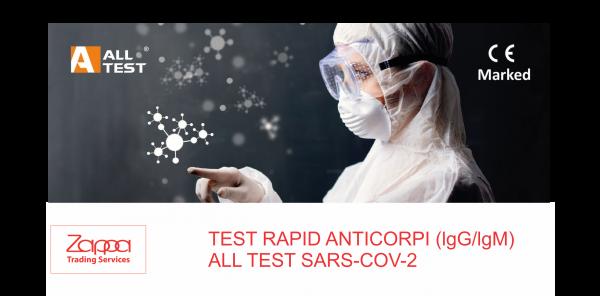 Teste rapide anticorpi ALLTEST 2019-nCoV IgG/lgM 0