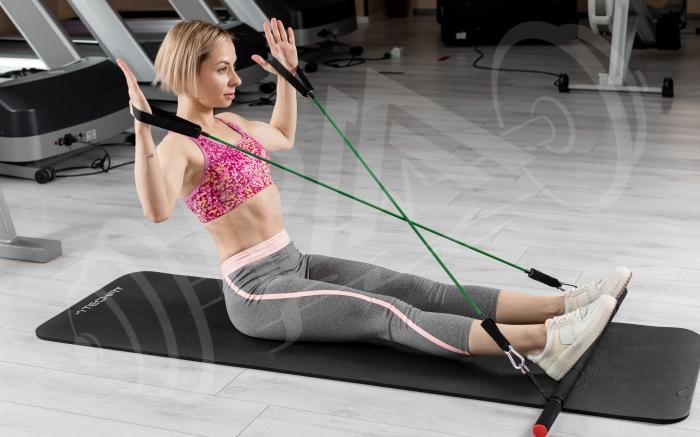 Bara portabila de exercitii cu 6 corzi elastice 5
