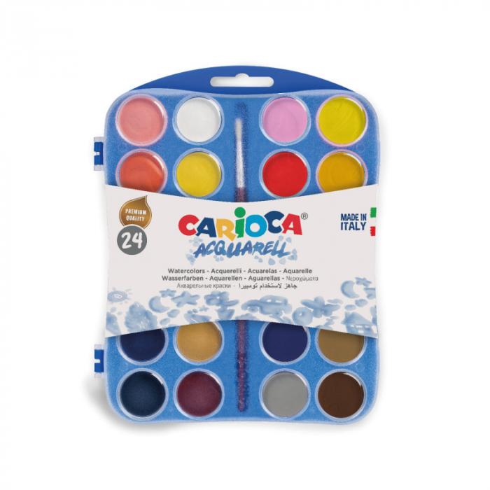 Set acuarele cu 24 culori pentru pictat 0