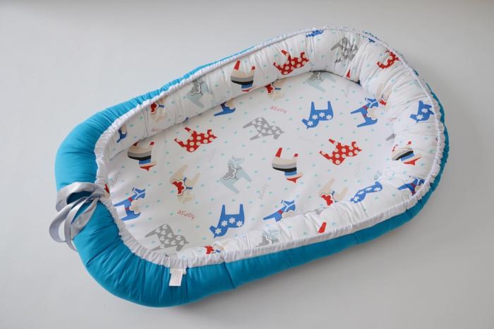 Baby Nest 0-6 luni cu caluti+protectie [0]