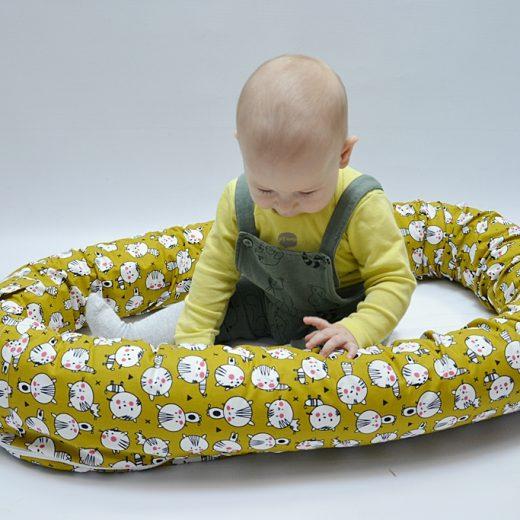 Baby nest 0-8 luni 3 in 1: culcuș, protecție patuț si saltea impermeabilă [2]