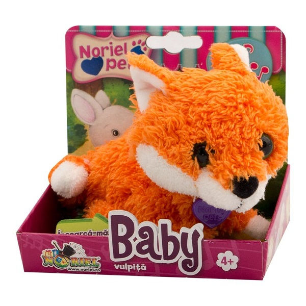 Baby Vulpita - Jucarie De Plus Interactiva Noriel Pets [0]