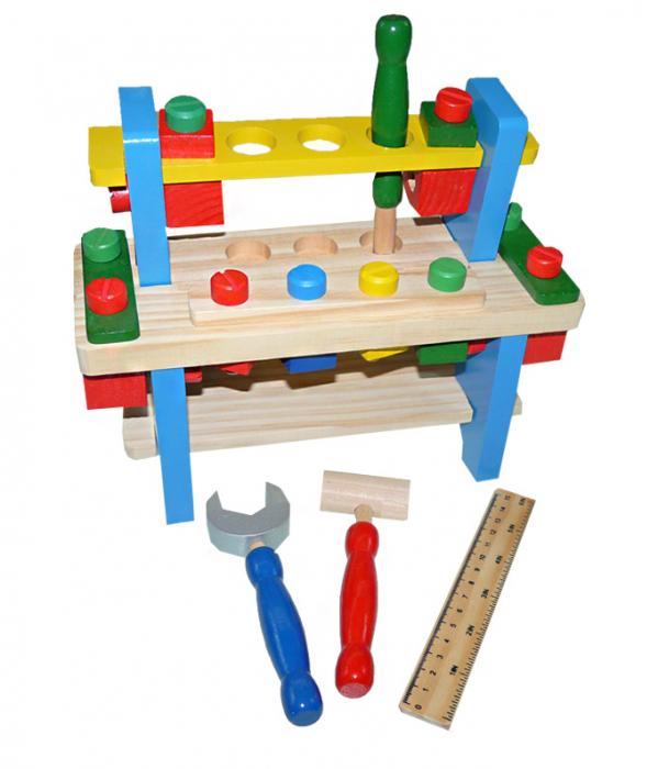 Banc de lucru din lemn pentru copii [4]
