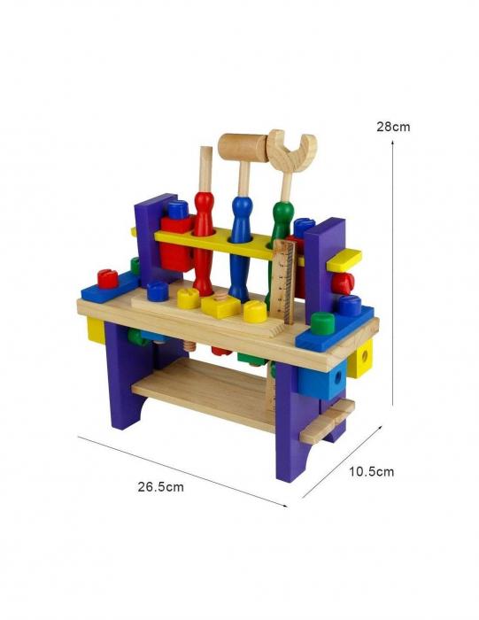 Banc de lucru din lemn pentru copii 5
